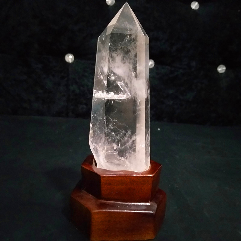 100% natural clear quartz crystal point feng shui stone healing crystal wand chakra energy