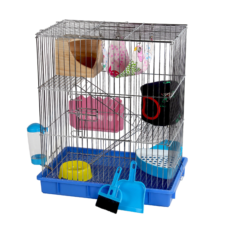 Creative Comfortable Small Pet Cage Chinchilla Squirrel  Hedgehog Cage Dedicated Home Villa Layer Plating Stainless Steel Cage