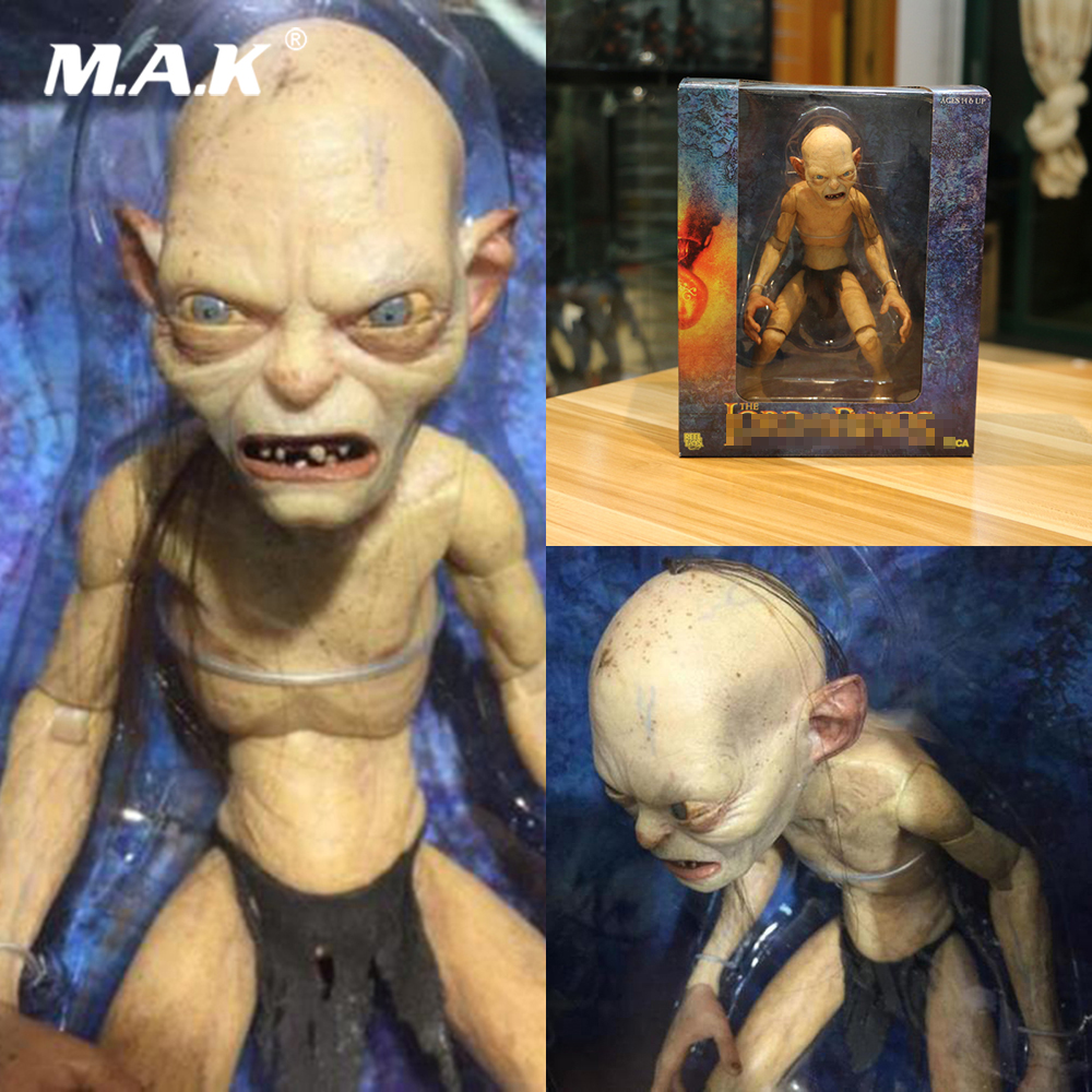Collectible 7'' Anime Figure 1/4 Scale 10cm NECA Gollum Smeagol Movable Model  For Fans Holiday Gifts
