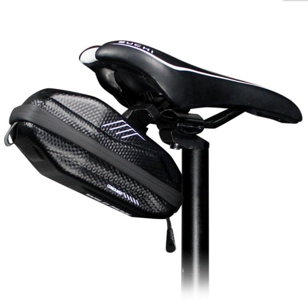 Купить с кэшбэком Wild Man Waterproof EVA hard shell 0.8L Bike Bag under Seat Bicycle Saddle Bag Road MTB Shockproof Cycling Pocket Accessories