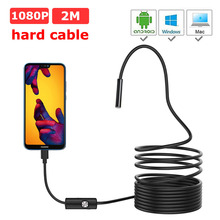 1080P HD Mini Android hard cable Endoscope Camera IP67 1920*1080 1M 2M 3.5M 5M Micro USB Inspection Video Camera 1920 1080 2mp 30fps h 264 hd 1 3 cmos ar0330 5 50mm manual zoom varifocal high speed mini usb camera endoscope android