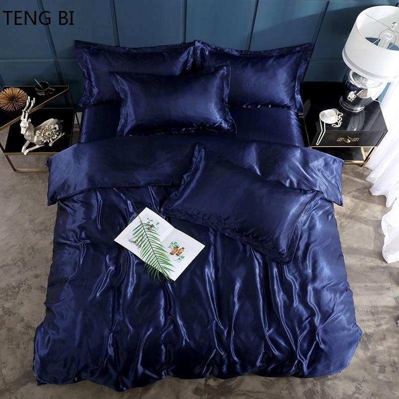 مسطحة سرير منزلية الساتان 22