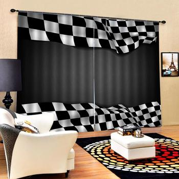 Custom any size photo black and white curtains Modern Home Decoration Living Room Curtains