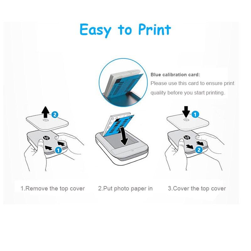 Image 5 - 2 ボックス 40 枚スプロケット写真用紙 5*7.6 センチメートル hp ジンクスプロケット写真なしインク bluetooth  印刷リアルタイム    グループ上の パソコン