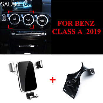 Mobile Phone Holder Air Vent Mount Bracket For Mercedes-Benz 2019 A Class W177 2019 A180 A200 GPS Phone Holder Clip image