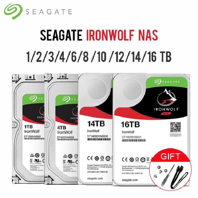 Seagate IronWolf SATA3 HDD Interface 64MB-128MB-256MB Cache 6Gb/s 5900RPM-7200RPM 3.5