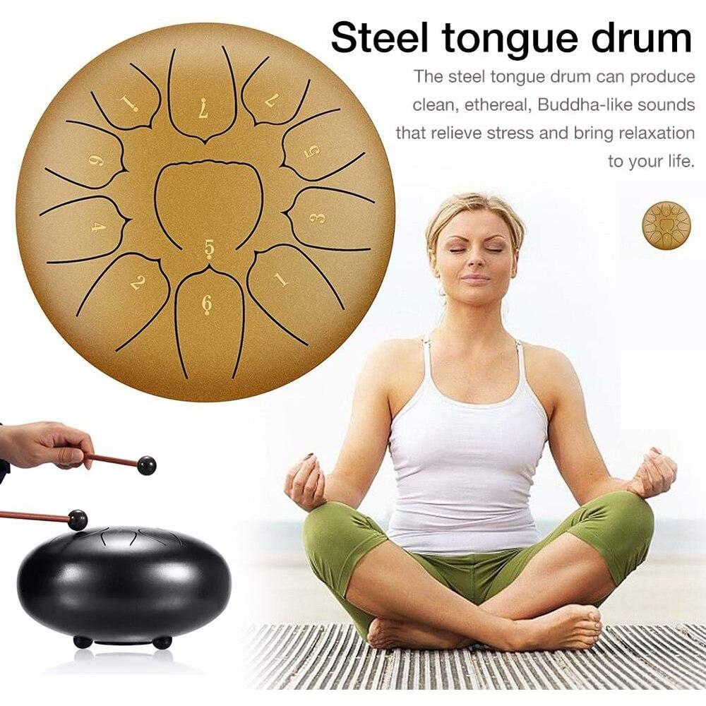 Ударные инструменты, ударный барабан, настраиваемый стальной барабан, ударные баки с клещами, сумка для переноски, ударные инструменты, руч...