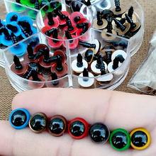 70Pcs 10mm Color-Mix Plastic Safety Eyes For Toys Glitter Animal Dolls Amigurumi Eyes DIY Doll Accessories 8mm 12mm With Box