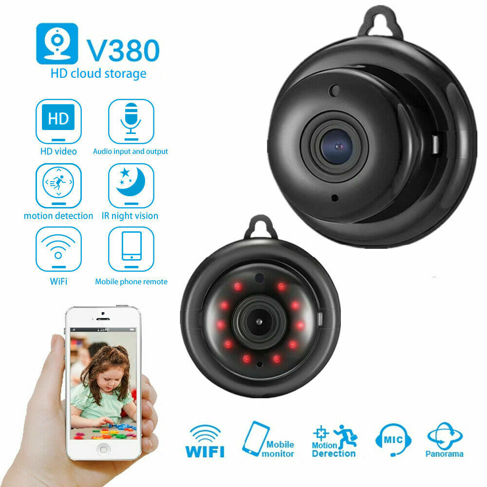HD 720P V380 Wireless WiFi IP App Camera Hiden Webcam Home Security Night Vision Motion Detection Small CCTV Infrared(China)