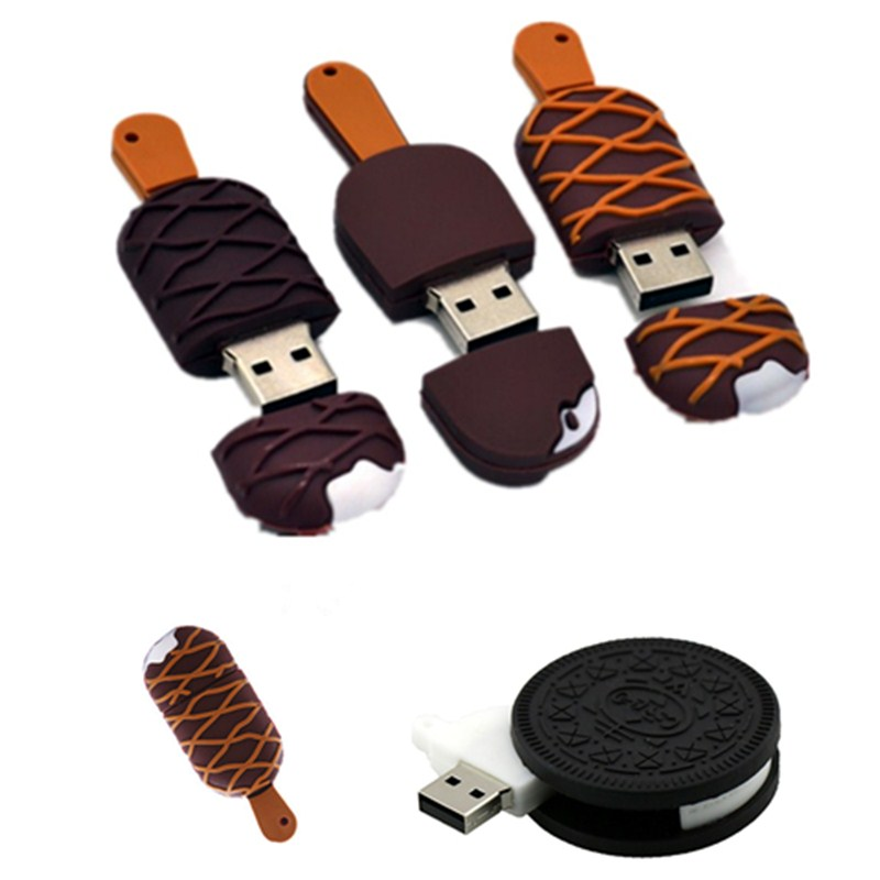 Chocolate Magnum Ice Cream Pendrive 4GB 8G Usb 2.0 High Speed Usb Flash Drive 16GB 32GB 64GB 128GB Pen Drive Memory Stick U Disk