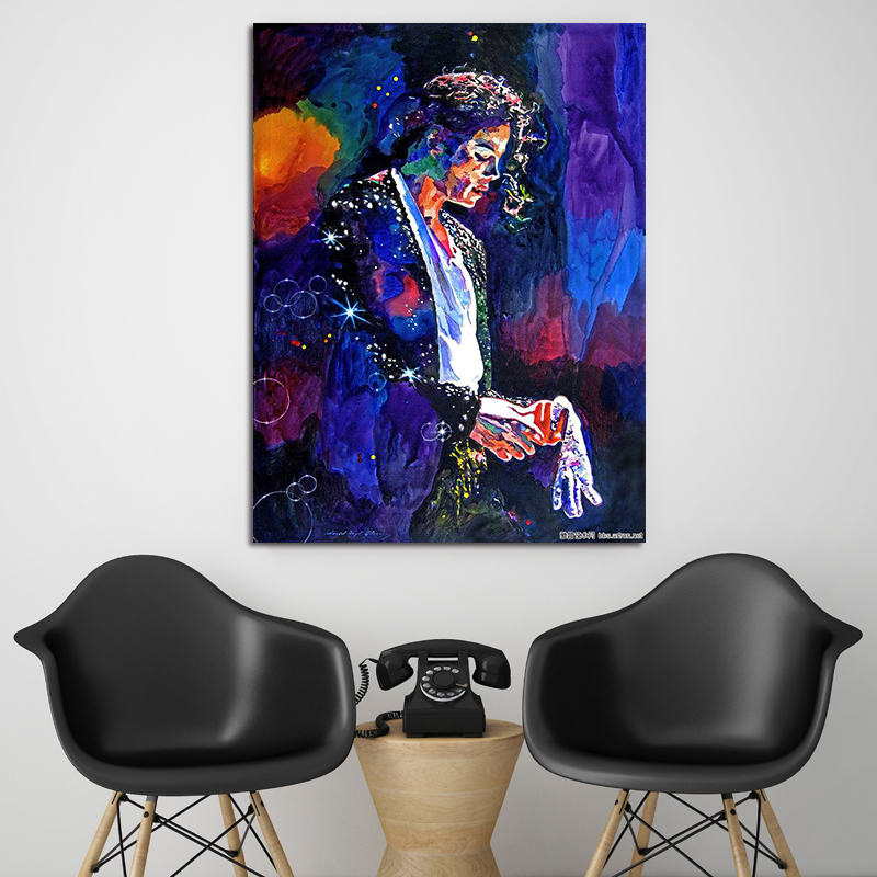 Diy Painting With Numbers, Using Numbers To Paint Michael Jackson Decorative Paintings