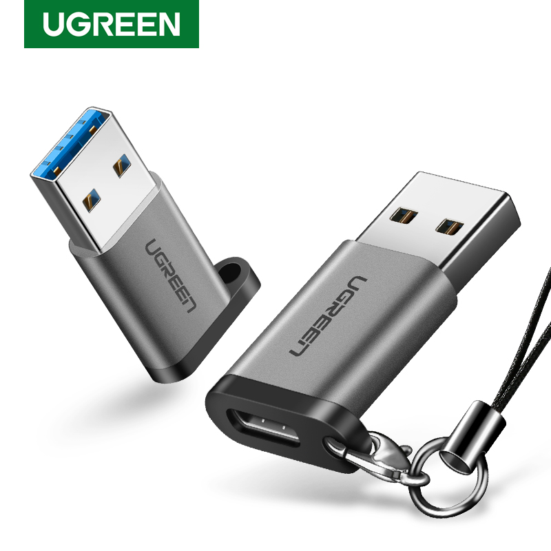 Ugreen USB C Adapter USB 3.0 Male To USB 3.1 Type C Female Type-C Adapter For PC Laptop Samsung Huawei P20 Earphone USB Adapter