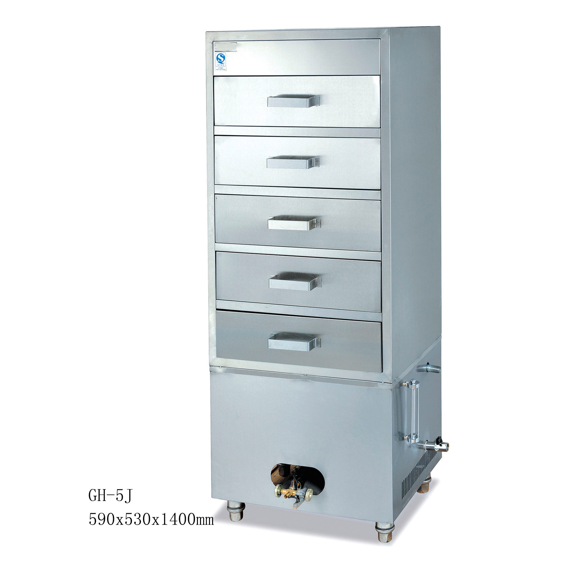 GH-5j Gas Commercial 5 Layers Steaming Cabinet Seafood Steamer Kitchen Equipment Safety Energy Saving And Health