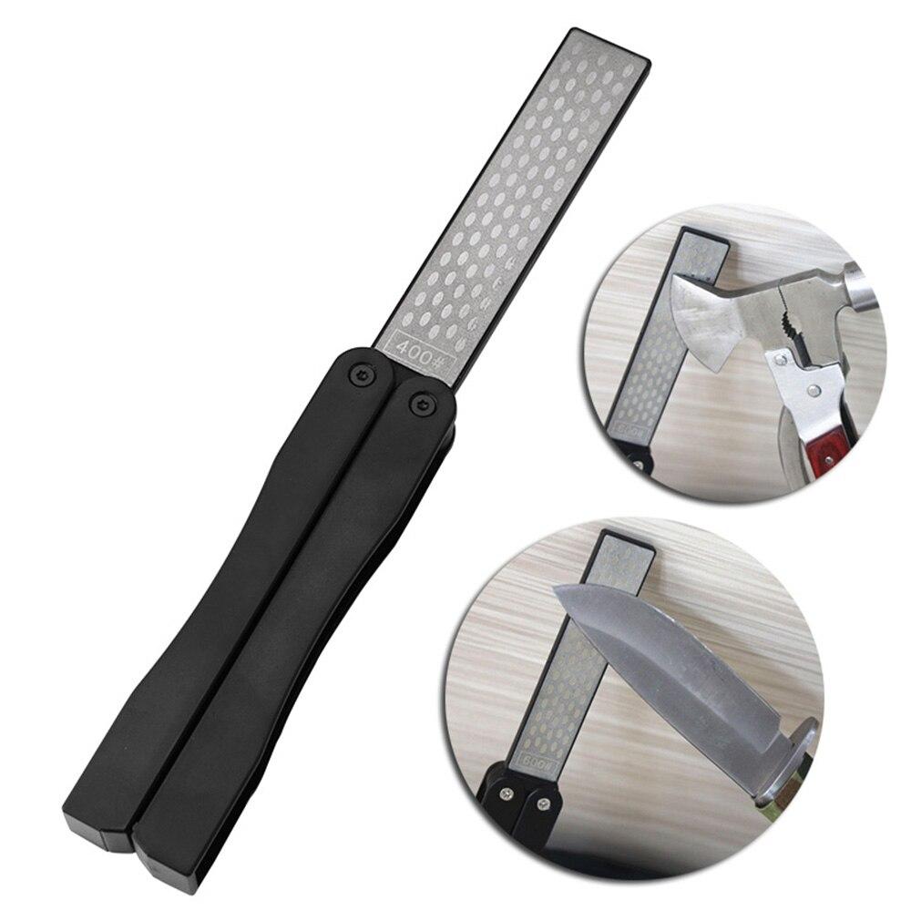 1 шт. двухсторонняя Складная портативная карманная точилка Алмазный нож для заточки камня на открытом воздухе кухонные инструменты для пра...
