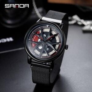 Image 3 - SANDA 2020 Hot Sell Men Watch Racing & Furious Rotating Dial Wheel Watches Magnet Clasp Quartz Wristwatch Gift Relogio Masculino