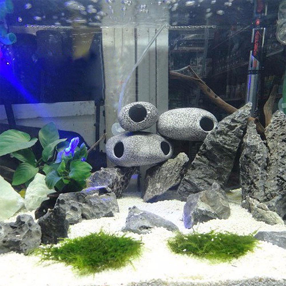 Cichlid Aquarium Stone Fish Tank Ornament Cichlid Stones Cave Pond Rock Ceramic Dropshipping Decoration Yard Decor