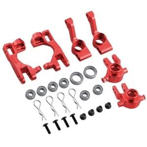 Image 2 - For 1/10 Traxxas Slash 4x4 Aluminum Left & Right Steering Blocks Part # 6837X C Hubs 6832X Axle Carriers Caster Blocks 1952X