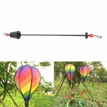 Rainbow/Grid Hot Air Balloon Stripe Windsock Wind Spinner Garden Yard Outdoor Decoration(China)