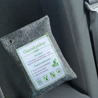 5*Bamboo Charcoal Bags Air Purifying Bags 200g Bamboo Charcoal Freshener Purifier Odor Remover