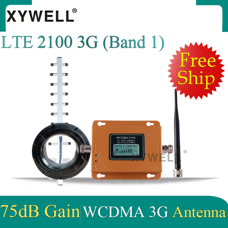 XYWELL 3G 4g Cellular Signal Booster LTE 2100MHz 3g GSM Signal Repeater UMTS 2100 Mobile Network Signal Booster Signal Amplifier