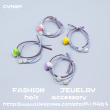 CYHGM girls kawaii elastic hair bands satynowa gumka designer bows devil hair accessories brand newborn bow headband G014