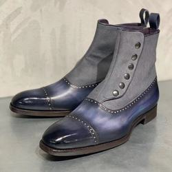Botas de tornozelo para homens sapato feminino chaussure deslizamento em sapatos de salto baixo matin homem sapato masculino botas de couro do plutônio do vintage d56