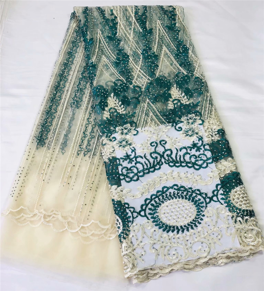 African Lace Fabric 2019 High Quality French Tulle Lace Fabric Embroidery Mesh Nigerian Laces Fabric For Wedding Dress