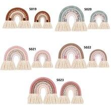 Ornament Decoration Wall-Hanging Rainbow-Room Nordic DIY Woven Rope Handmade