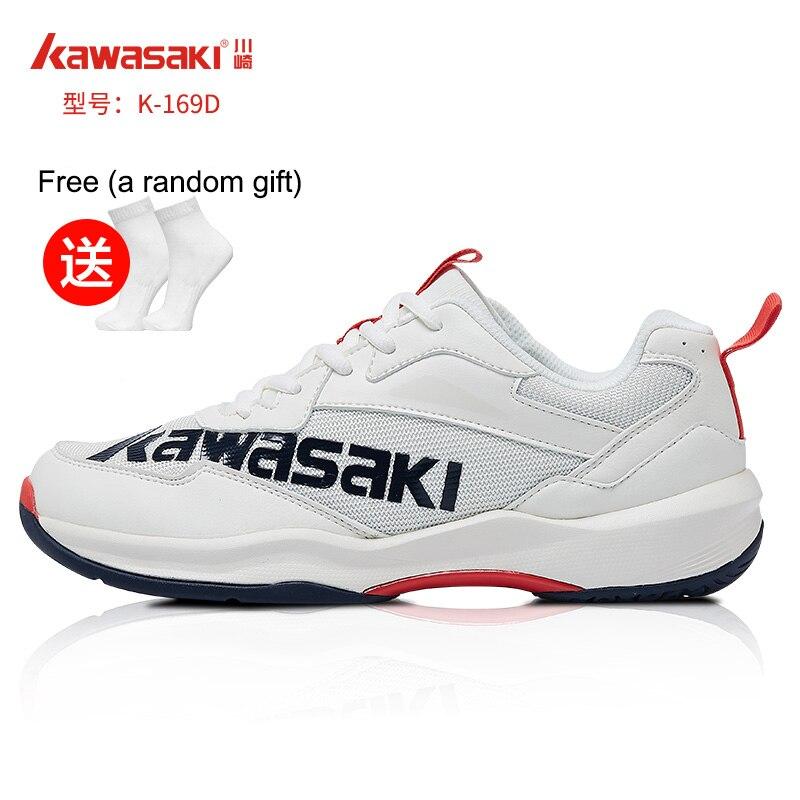 Kawasaki-zapatos De Bádminton Profesionales Para Hombre Y Mujer, Zapatillas Deportivas Transpirables Antideslizantes, K-169D, Con Regalo Gratis, 2021