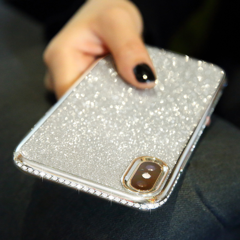 Diamond Sexy Glitter Silicone Case For Iphone XR XS 11 Pro MAX XS X 6s 6 8 7 Plus DropProof Soft TPU Clear Plating Shell Cover
