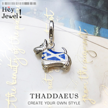 Pure 925 Sterling Silver Westie Westy Dog Scotland Animal Pendant Charms fit Original Bracelets Necklace Jewelry Women Men Gift