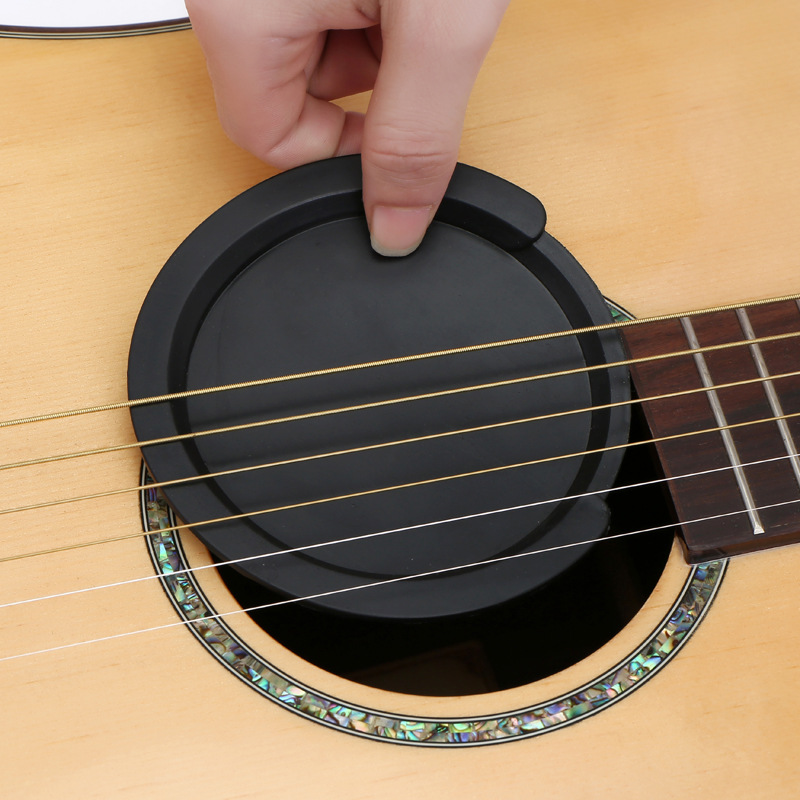 High 2pcs Silicone Guitar Sound Hole Cover Noise Reduction Buffer Plug Universal Accessory DOG88