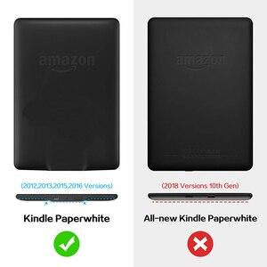 Image 2 - BOZHUORUI 킨들 Paperwhite 6 세대 2015 및 7 세대 2017 (모델 EY21/DP75SDI)  자동 잠자기/깨우기 기능이있는 자기 스마트 커버