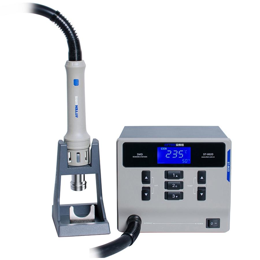 ATTEN 1000W Lead-free Heat Gun Desoldering Station Digital Adjustable Hot Air Gun BGA Rework Station For Phone PCB Repair