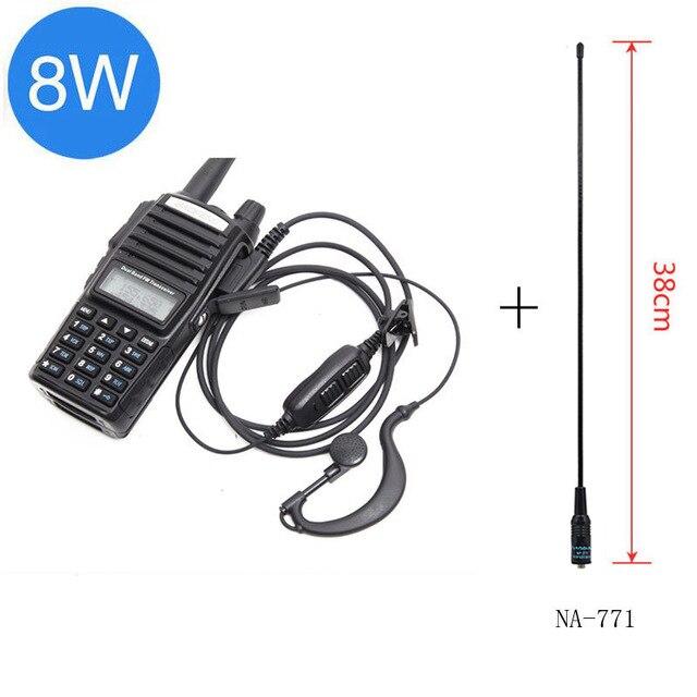 Baofeng UV-82 Plus 8 Вт 10 км Большая дальность мощная портативная рация CB vhf/uhf двухстороннее радио Amador 8 Вт UV82 Plus - Цвет: black antenna