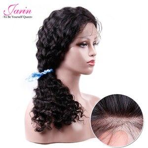 Image 1 - 1 2 5 шт./лот, человеческие волосы, кружевные передние парики, глубокая волна, парик на шнуровке, оптовая продажа, волосы Remy, натуральные черные бразильские волосы Jarin