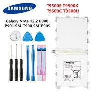 SAMSUNG Tablet Orginal T9500E T9500K T9500C T9500U bateria 9500mAh Para Samsung Galaxy Note 12.2 P900 P901 P905 T900 P900 + Ferramentas