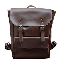 Многофункциональный мужской рюкзак из кожи Крейзи Хорс 2020
