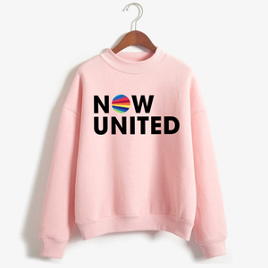 Fashion Now United Logo Women Sweatshirts 2020 Female Hoodies Aesthetic Printed Pullovers 90S Vogue Pink Sportswear Streetwear