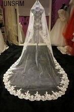 Горячая Распродажа 2019 свадебная фата кружевная белого цвета