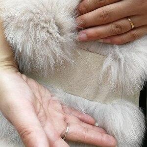 Image 5 - Женский жилет из натурального лисьего меха, толстый теплый длинный жилет без рукавов, роскошная модель на зиму, 2019
