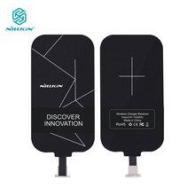Nillkin etiquetas mágicas QI Receptor de carga inalámbrica adaptador Micro USB/Tipo C para iPhone 5S SE 6 6 S 7 Plus, Samsung S7 S6 Edge