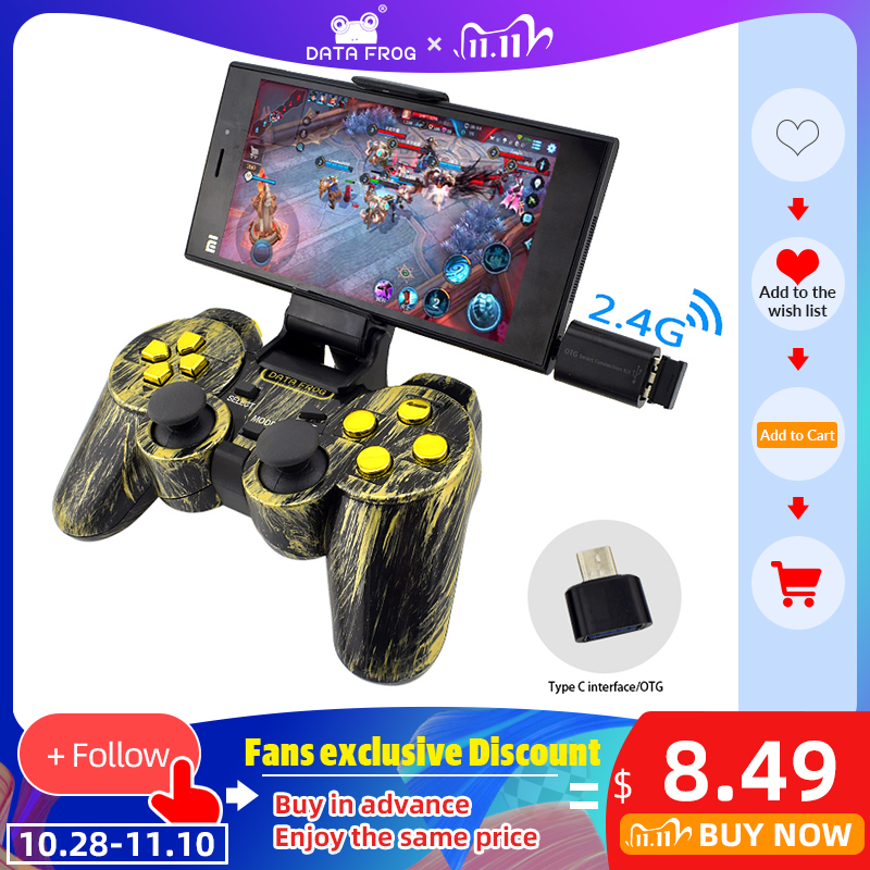 Data Frog Wireless Controller 2 4 G Android Gamepad Joystick Type C For Android Smart Phone Joypad For PC For PS3 TV Box