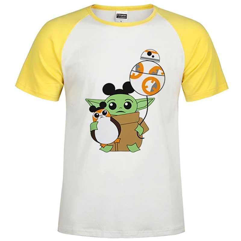 Camiseta mandaloriana Baby Yoda para hombre y mujer, camiseta Harajuku Star Wars, camiseta gráfica Satanist moive, camiseta para hombre 80s