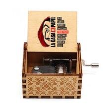 Music-Box Casa-De-Papel Hand-Crank Gift Wood Bella Ciao Birthday Christmas Love John
