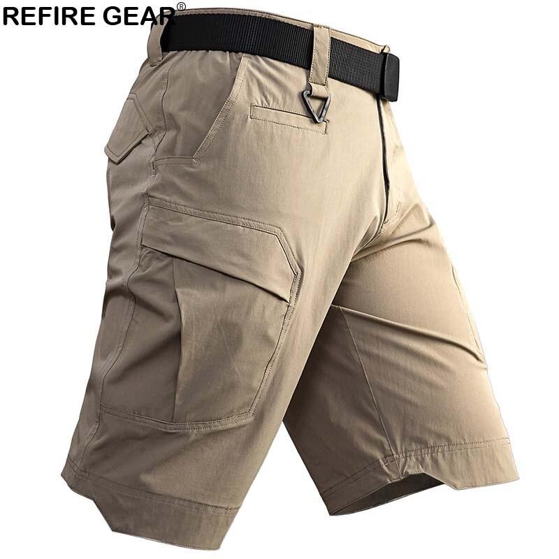 Refire GEAR New Outdoor Sports Shorts Men Quick Dry Breathable Muti Pockets Climbing Short Men Hiking Hunting Camping Shorts Men