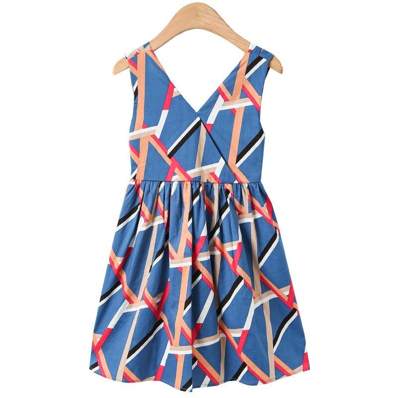 Sweet Dresses Baby Girl Princess Dress V-Neck Sleeveless Backless Dresses Children's Clothing Casual Summer 5