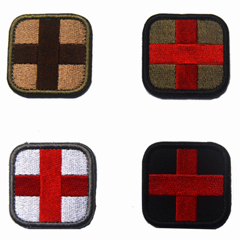 1x Red Cross EMT First Aid Embroidered Patch Medical Paramedic Badge Patch 5*5cm