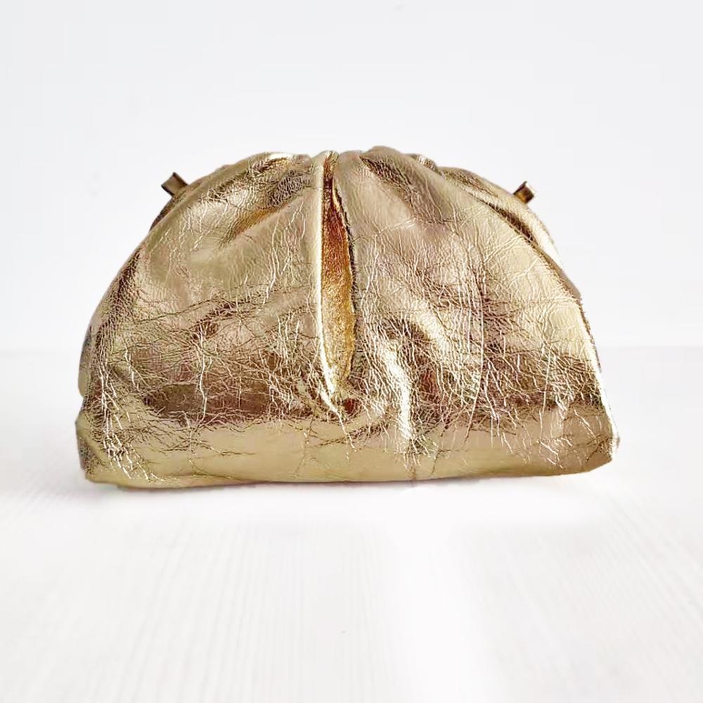 Moda famosa marca de lujo estilo mujeres bolsas bolsa nube bolsa brillante bolso de cuero genuino señora embragues piel de oveja calidad - 5