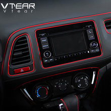 Vtear Universal Car accessories interior Mouldings car-styling Decorative thread decoration chrome trim car-styling sticker 2019(China)